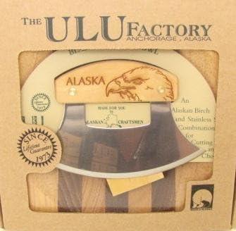 Ulu store Bargain sale Factory Alaska Birch Walnut Chopping Bowl-bo Stripe Wood