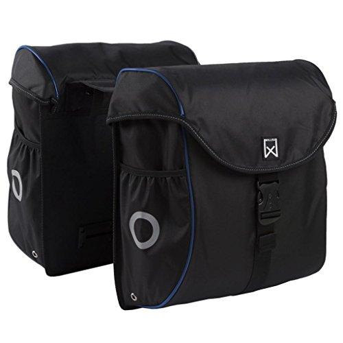 Willex Fahrradtasche 38 L Schwarz Blau Doppeltasche Gepäcktasche Packtasche