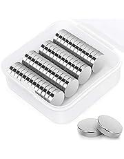 50 st neodym-magneter, 12 mm x 3 mm runda och starka magneter för whiteboards, kylskåp, hantverk, anslagstavla eller bildmagnet