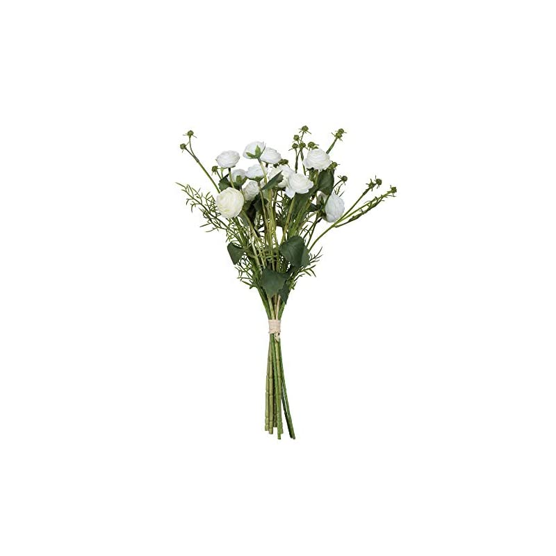 "silk flower arrangements vickerman mini ranunculus spray artificial-flowers, 17"", cream"