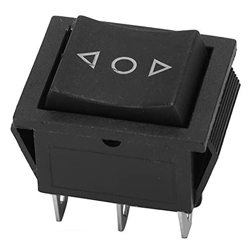 Interruptor basculante Akozon 6 pines 3 posiciones Ajuste de posición encendido-apagado-encendido Interruptor de eje de balancín del barco para coches, motos, barcos