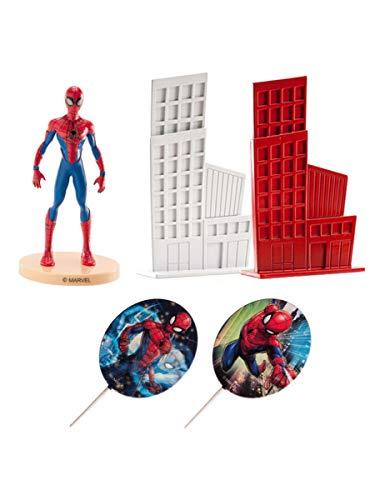 KULTFAKTOR GmbH Spiderman-Kuchendeko Dekofiguren 5-teilig bunt 8 cm Einheitsgröße