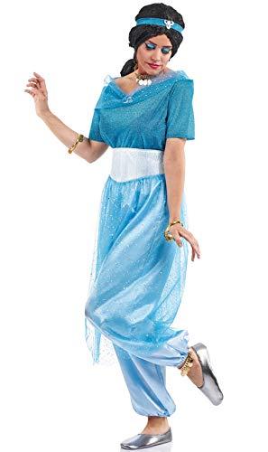 Disfraz de Princesa Jasmín Azul para mujer