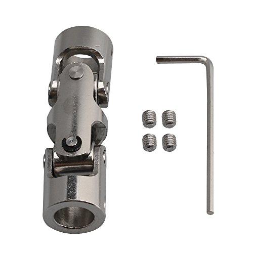 bqlzr 10–10mm ID 16mm OD Silber 45# Stahl 3Universal Gelenk Kupplung Schaft Motor Anschluss-Kupplung mit-Inbusschlüssel Schrauben