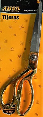 JX - Tijeras de inauguración de metal dorado, 26 cm, cintas, cinta bordada, costura