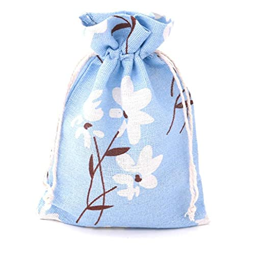 Ruluti Cotton Bag Drawstring Pouches Breathable Washable Muslin Bag Sachet Bag for Travel Wedding Home Party Supplies
