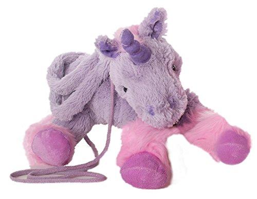 Inware 6212 - Handtasche Einhorn, 30 cm, pink/flieder, Umhängetasche