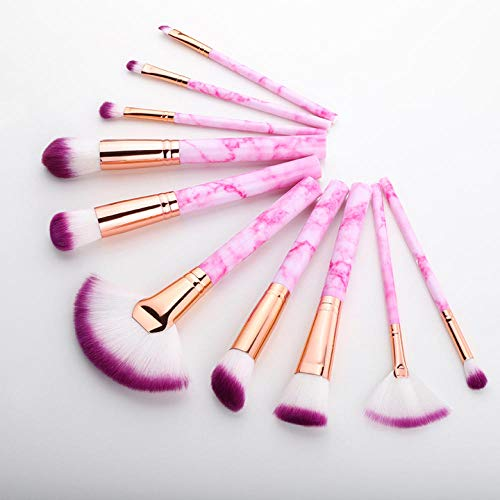 Terilizi 10 Pcs Pinceaux De Maquillage Professionnel Set Full Function Foundation Eye Powder Fan Blush Brush Makeup Tools Brushes Set Kit A