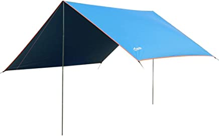 yodo Lightweight Hammock Sun Shelter Shade Tent Tarp Awning Canopy with Poles for Outdoor Camping Hiking Backpacking Picnic Fishing, Blue