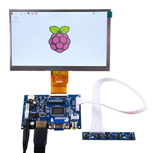 GeeekPi 7 inch 1024 x 600 HDMI Screen LCD Display with Driver Board Monitor for Raspberry Pi
