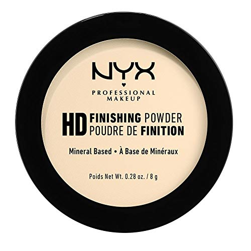 NYX Professional Makeup High Definition Finishing Powder, Gepresstes Puder, Perfektionierte Haut, Mattes Finish, Ölabsorbierend, Vegane Formel, Farbton: Banana