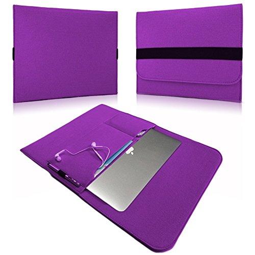 NAUC Laptop Tasche Sleeve Schutztasche Hülle Tablets MacBook Netbook Ultrabook Hülle kompatibel mit Samsung Apple Asus Medion Lenovo, Farben:Lila, Für Notebook:Sony VAIO VPC-Z21C5E