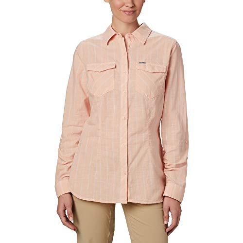 Columbia Camp Henry II LS Shirt Camisa, Mujer, Orange, XS