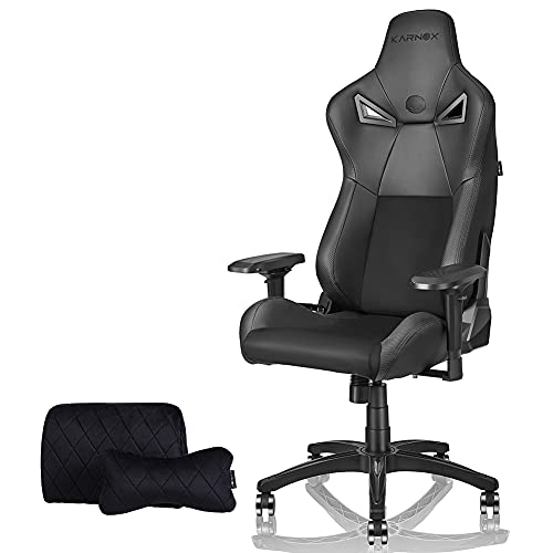 KARNOX BK Gaming Chair Office Chair with 155º Recline PU&Suede Fabric Racing Chair High Back Chair...