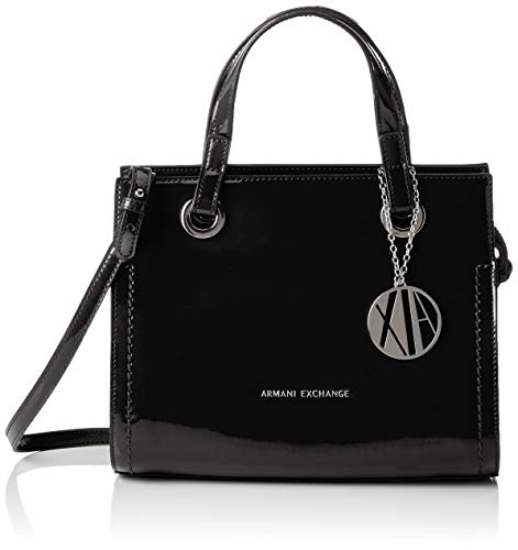 ARMANI EXCHANGE Small Shopping Bag - Borse Tote Donna, Nero (Black), 21x13.5x27 cm (B x H T)