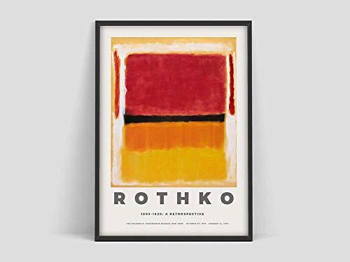 Póster de Mark Rothko, impresión de exposición para el Museo Guggenheim, exposición de arte, póster de arte, pintura en lienzo sin marco Q-98 70x100cm