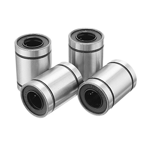 Vaorwne 4 pcs LM12UU 12x22x32mm Double Side Rubber Seal Linear Motion Ball Bearing