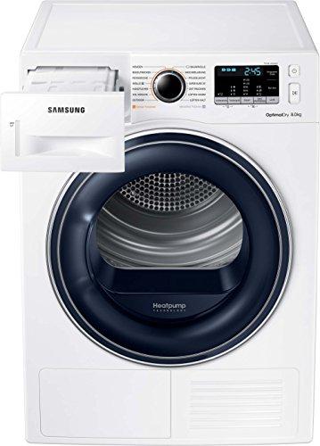 Samsung DV5000 DV81M50103W/EG Wärmepumpentrockner/A++/OptimalDry - Sensorgesteuertes Trocknen/Kondenswasserstandsanzeige - SchnellCheck/Komfort 2-in-1-Filter - 5