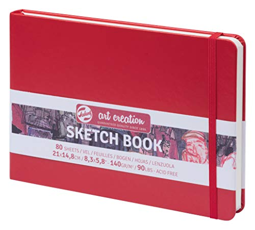 TALENS Sketchbook Sketchbook 21x14.8 cm, 160 g/m² 80 Pages Red