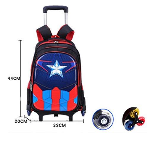HUOQILIN Trolley-Taschen Schülerin Junge Treppensteigen Entfernbare Folie PV Einweg-wasserdichtes Material, Eine Packung Von Dual-Use Abnehmbar (Color : B)