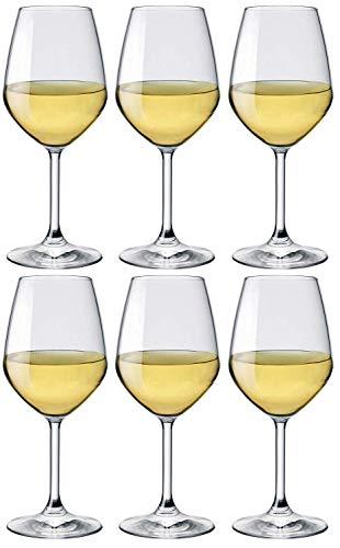 Rocco Bormioli - Juego de copas de vino (44.5 cl, 6 unidades)