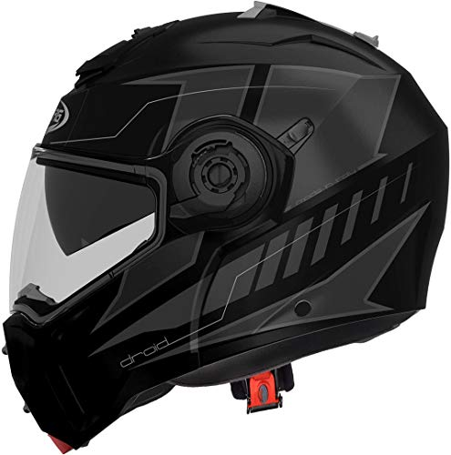 CASCO CABERG DROID BLAZE MATT BLACK/ANTHRACITE L