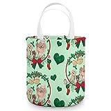 Cesta de azúcar de Halloween, caniche de Navidad, bolsas de dulces, bolsas de regalo para fiestas de Navidad para niños