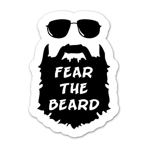 Fear The Beard Decal - 4 Inch Full Color Decal for...