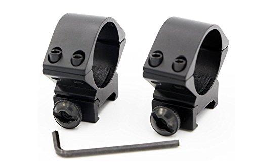 30mm Niedriges Profil Taktische Zielfernrohr Ring doppel Nagel Picatinny/Weaver Schiene Schwalbenschwanzmontage breite 20mm- 2er Set