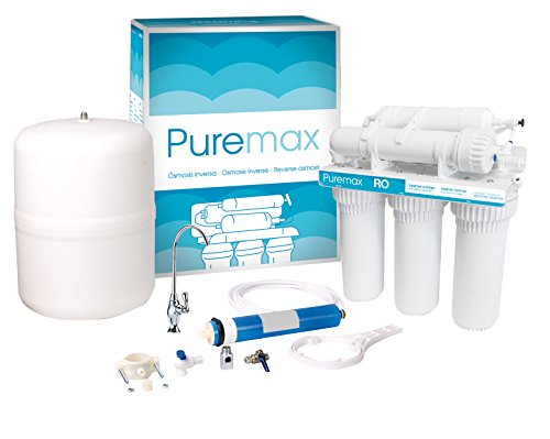 Premium Umkehrosmose Trinkwasseranlage PUREMAX inkl. Wasserhahn und Anschluss-Set.
