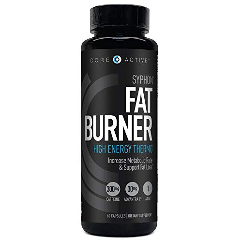 Core Active Syphon Thermogenic Fat Burner - Keto Friendly Weight Loss Supplement Pills - Advantra Z for Energy, Focus, Appetite Control Increase Metabolism Muscle Toning - 60 Capsules - 60 Day Supply