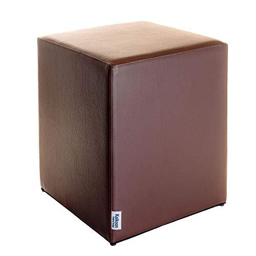 Kaikoon Pouf Cube Marron Dimensions : 35 cm X 35 cm x 42 cm