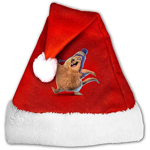 Kenice Santa Claus Mütze,Weihnachtsmützen,Weihnachtsmann Hut,Rot Weihnachten Hüte,Lustige Murmeltier-Weihnachtsmann-Kappe,Party-Dekoration,Weihnachtsfeiertags-Hut S