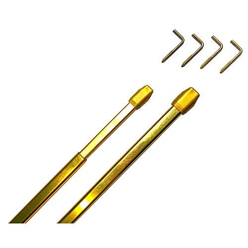Tringles /à Rideaux Extensibles Rondes /Ø 7 mm 30-45 cm Meilleures ventes 2 pi/èces Couleur Laitonn/é Verni