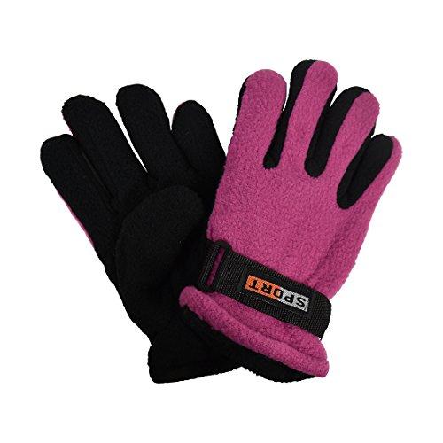 Mauve Warm Thermal Polar Fleece Gloves for Children