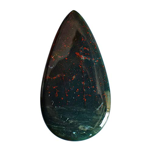 Impresionante forma de pera natural rojo verde Bloodstone Cabujon, tamaño 36x18x2 MM, flojo semi precioso 25077