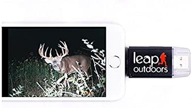 Leap Outdoors SD Card Reader Game and Trail Camera Viewer for Apple iPhone   Works with Cases   Reads SD, SDHC. Hunting Accessories Must Have!