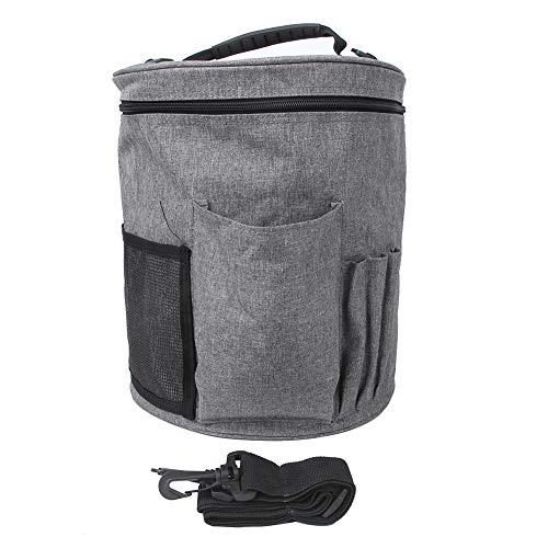 Bolsa de tejer Bolsa de almacenamiento de hilo portátil para madejas de hilo y accesorios Sin...