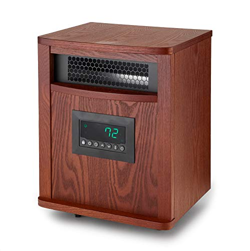 Lifesmart Smart Boost 6 Element 1500W Portable Infrared Quartz Mica Indoor Room Space Heater