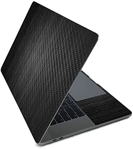 MightySkins Carbon Fiber Skin for Apple MacBook Pro 16 2020 Black Wood Protective Durable Textured product image