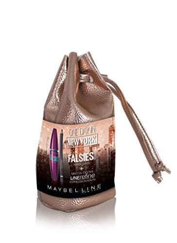 Maybelline New York One Day in New York Coffret idée cadeau pour femme avec Mascara The Falsies et Crayon Yeux Line Refine, Kajal 33