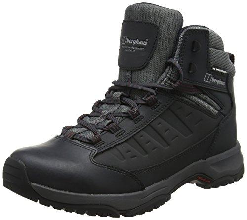 Berghaus Expeditor Ridge 2.0 Walking Boots, Chaussures de Randonnée Hautes Homme, Noir (Black/Red B59), 40.5 EU