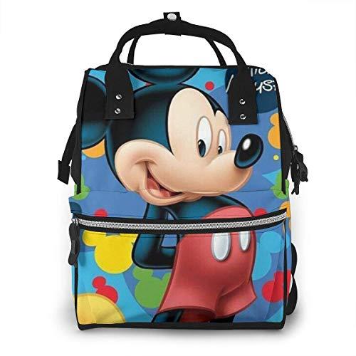 Wickeltasche Rucksack - Mickey Mouse Multifunktions wasserdichter Reiserucksack Mutterschaft Baby Windel Wickeltaschen