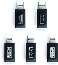 PortaPow USB Data Blocker (Black 5 Pack) - Protect Against Juice Jacking