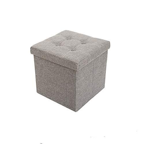 malin-system - Sitzhocker (38x38x38) – Fußbank mit Stauraum – Faltbarer Sitzwürfel mit abnehmbaren Deckel – Beinauflage