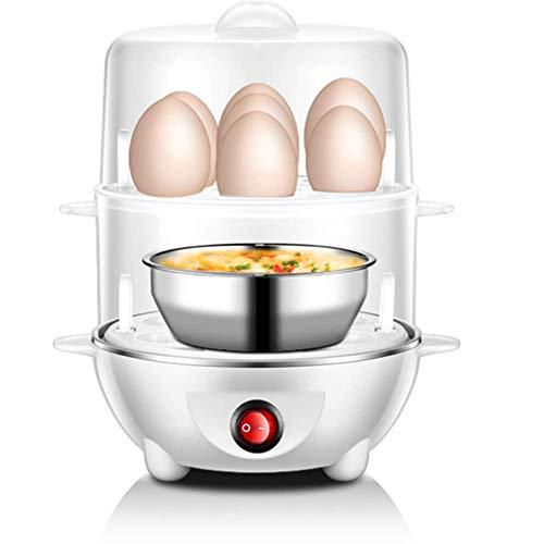 CCJW El artefacto Multifuncional del Desayuno del Vapor de Huevo de Huevo, Puede Cortar automaticamente la alimentacion para Calentar la Capa Doble, Adecuada para hogares de Dormitorio kshu
