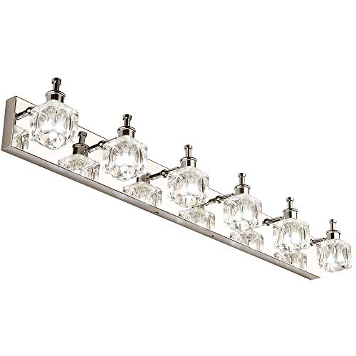 PRESDE Modern 6 Lights LED Vanity Lights for Bathroom Over Mirror