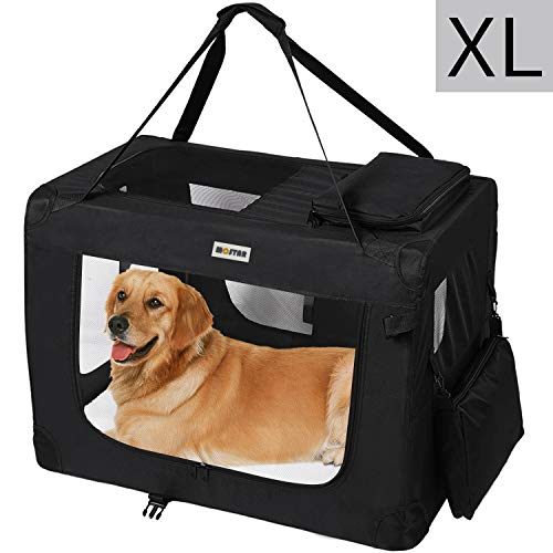 MC Star Borsa per Cane Portatile Pieghevole Trasportino per Cani Animali Domestici XL 82 x 58 x 58 cm, Nero