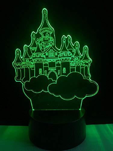 Dream Castle en forma de 3D lámpara de mesa cable de iluminación LED USB niños regalos dormitorio noche luz táctil o remoto multicolor