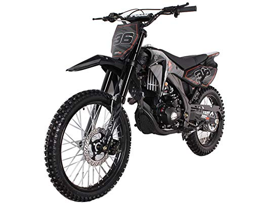 SMART DEALSNOW Brings BRAND NEW APOLLO Dirt Bike 250cc AGB-36 APOLLO with Standard Manual Clutch  - MIDNIGHT BLACK Color